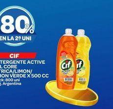 Oferta de Detergente lavavajillas Cif 500cc por
