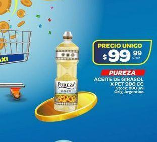 Oferta de Aceite de girasol Pureza 900cc por $99,99