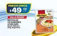 Oferta de Ravioles Villa D'agri vs sabores 520gr  por $49,49