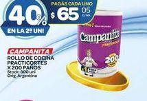 Oferta de Papel de cocina Campanita 200paños  por $65,05