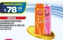 Oferta de Shampoo, aondicioandor Sedal 190cc por $78,89