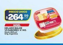 Oferta de Helados Noel 1kg vs sabores por $264,99