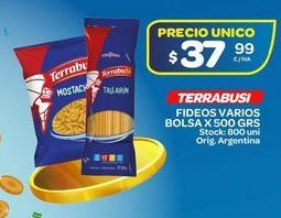 Oferta de Fideos Terrabusi 500grs por $37,99