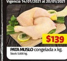 Oferta de Muslos de pollo por $139