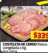 Oferta de Costeleta de cerdo por $339