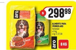 Oferta de Alimento para perros 8kg ARO  por $298,99