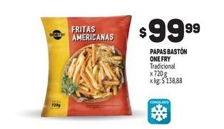 Oferta de Papas baston one fry por $99,99
