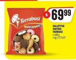 Oferta de Galletitas 400g Terrabusi por $69,99