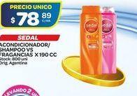 Oferta de Shampoo, acondicionador Sedal por $78,89