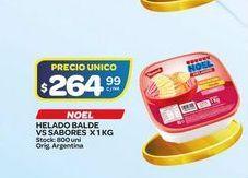 Oferta de Helados balde vs sabores x 1kg NOEL  por $264,99