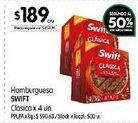 Oferta de Hamburguesas Swift por