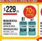 Oferta de Enjuague bucal Listerine 500ml  por $229