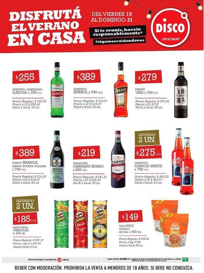 Oferta de Bebidas alcohólicas por