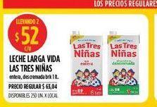 Oferta de Lechelarga vida  Las Tres Niñas 1lt  por $52