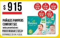 Oferta de Pañales Pampers confort sec por $915