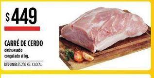 Oferta de Carre de cerdo deshuesado congelado  por $449