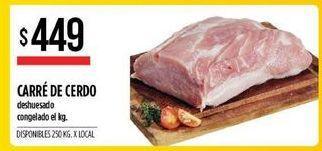 Oferta de Carrre de cerdo deshuesadp congelado  por $449
