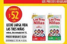Oferta de Leche Las Tres Niñas 1lt por $52
