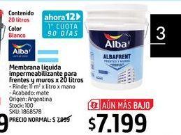 Oferta de Impermeabilizante Alba por