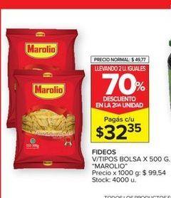 Oferta de Fideos Marolio 500g  por $32,35