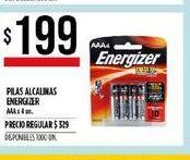 Oferta de Pilas alcalinas Energizer AAA 4u por $199