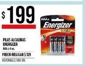 Oferta de Pilas alcalinas Energizer AAA 4un  por $199