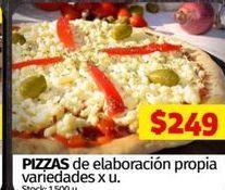 Oferta de Pizzas de elaboración propia por $249