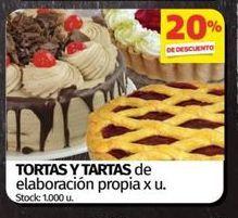 Oferta de Tortas y tartas por