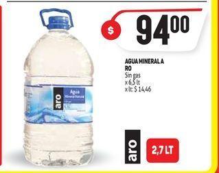 Oferta de Agua mineral ARO sin gas  por $94