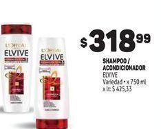 Oferta de Shampoo/acondicioandor 750ml  Elvive por $318,99