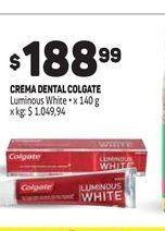 Oferta de Crema dental Colgate por $188,99