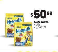 Oferta de Cacao Nesquik 180G  por $50,99