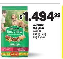 Oferta de Alimento para perros Dog Chow 15kg por $1494,99