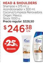 Oferta de Shampoo anticaspa Head & Shoulders por