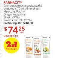 Oferta de Crema de manos farmacity por