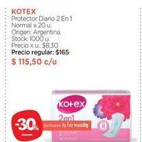 Oferta de Protectores femeninos Kotex por