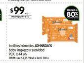 Oferta de Toallitas húmedas para bebé Johnson's 44un  por $99