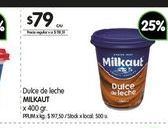 Oferta de Dulce de leche Milkaut 400gr  por $79