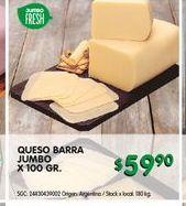 Oferta de Queso barra Jumbo por $59,9