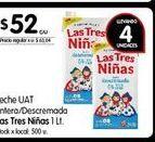 Oferta de Leche entera/descremada Las Tres Niñas 1lt por $52