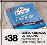 Oferta de Queso cremoso La paulina por $38
