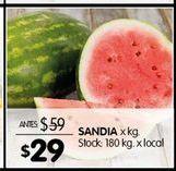 Oferta de Sandía por $29