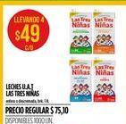 Oferta de Leche Las Tres Niñas 1lt por $49