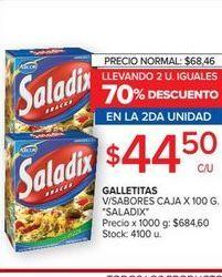Oferta de Galletitas 100g Saladix por $44,5