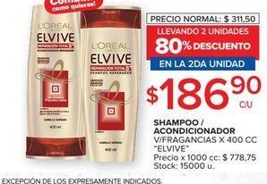 Oferta de Shampoo/acondicionador ELVIVE 400CC  por $186,9