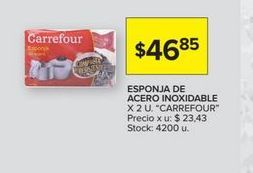 Oferta de Esponja de acero inoxidable 2u CARREFOUR  por $46,85