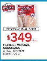 Oferta de Filetes de merluza congelado 1kg por $349
