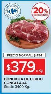 Oferta de Bondiola de cerdo congelada por $379