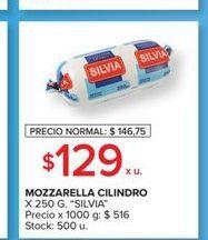 Oferta de Mozzarella Silvia 250g  por $129