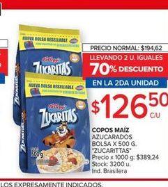 Oferta de Copos de maíz Zucaritas 500g por $126,5